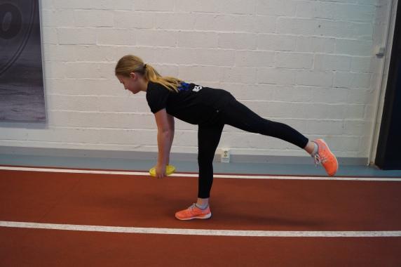 Enbensmarklyft är en bra övning för att förebygga skador som tränar balansen, baksida lår och bålen.