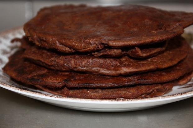 Goda bönpannkakor med chokladsmak